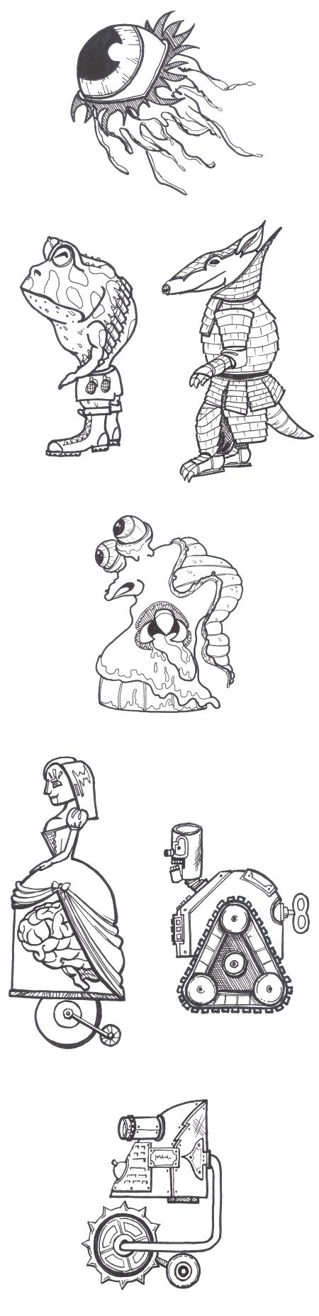 Enemy drawing samples